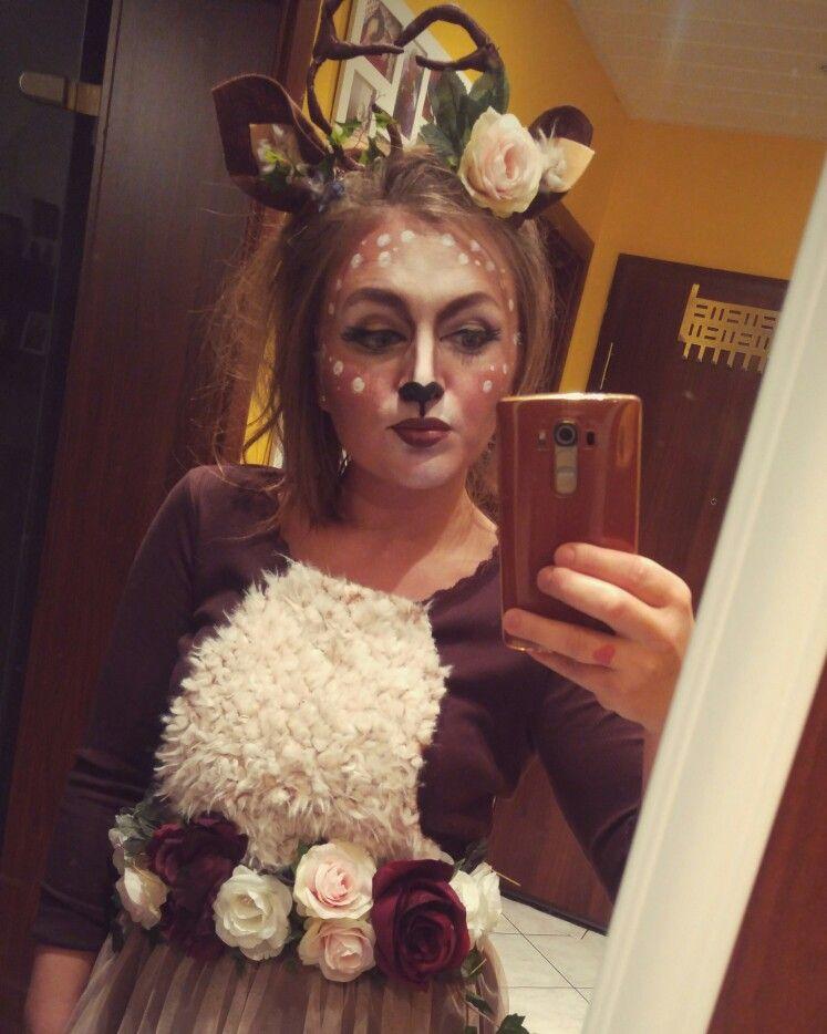 Kostum Reh Geweih Diy Karneval Roses Bambi Schminke