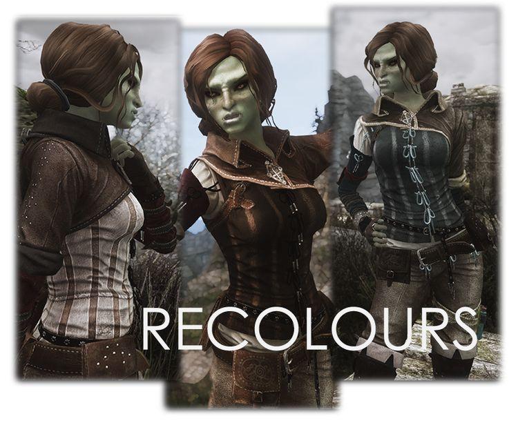 More Triss Armor Recolours UNP at Skyrim Special Edition Ne