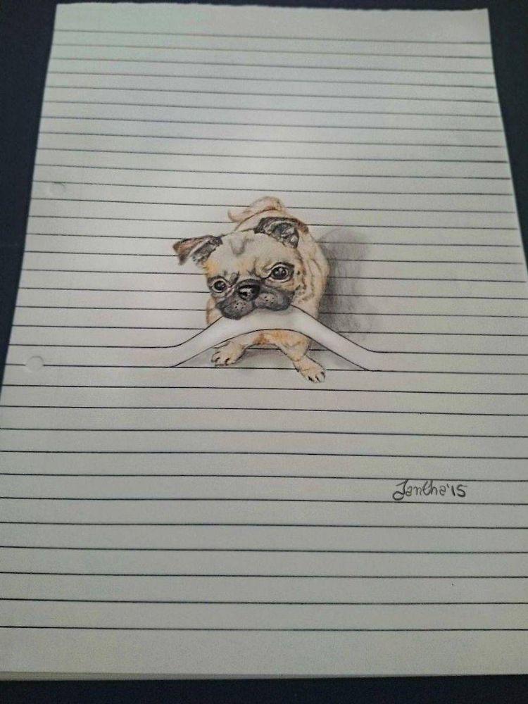 Desenhos a lápis de animais fofos