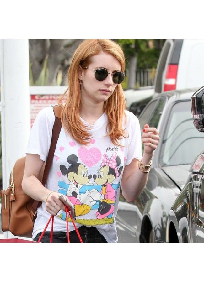 2c58f09a7c506 Emma Roberts Style Metal Rounded Celebrity Sunglasses