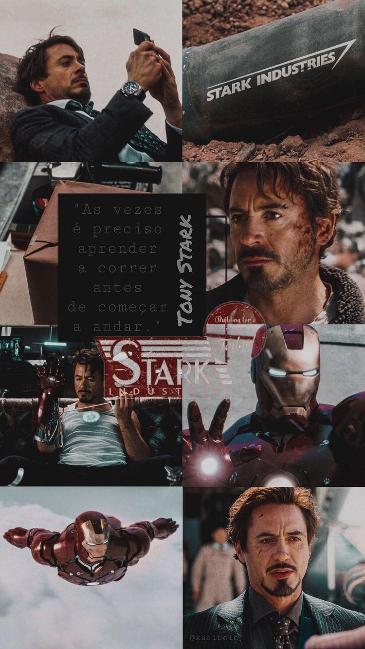 Iron Man | by @kasibele #marveluniverse #wallpaper #avengers #ironman #tonystark #planodefundo #lockscreen #aesthetic #heroes