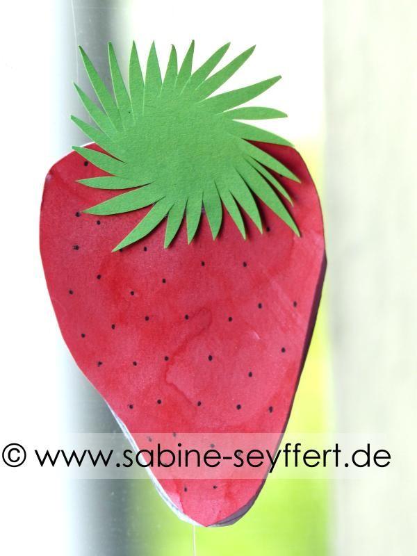 Bastelidee Diy Fur Kinder Wir Basteln Erdbeeren Als Dek