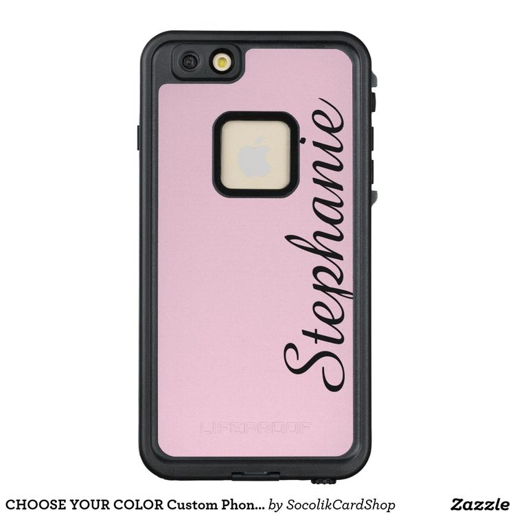 buy online a3f8c 5734b CHOOSE YOUR COLOR Custom Phone Case with Name | Zazzle.com