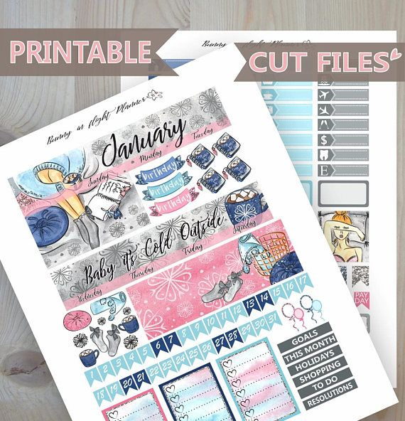 monthly cozy stickers happy planner printable sticker new