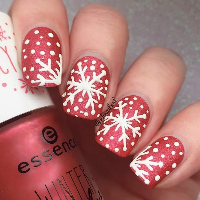 55 Popular Ideas Of Christmas Nails Designs To Try In 2019