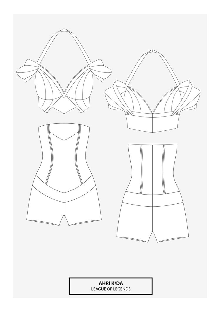 Ahri KDA cosplay sewing pattern