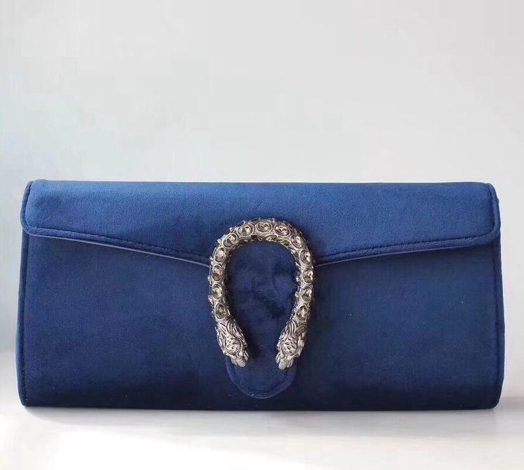 ccab389a37f Gucci Velvet Dionysus Clutch Bag 425250 Royal Blue 2018