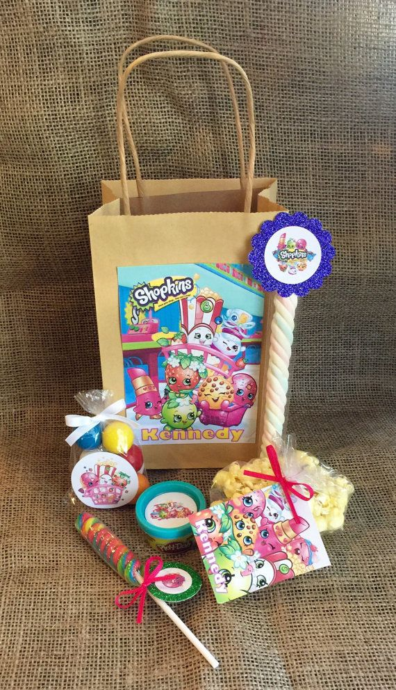 Kins Birthday Party Favors And Bags Personalized Goo Bag Bundle Playdoh Popcorn Lollipop Marshmallow