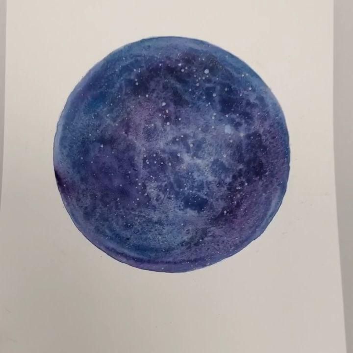 Easy celestial watercolor art