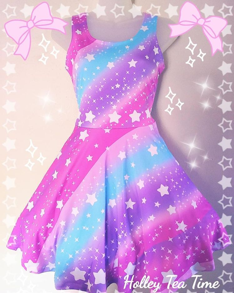 57808d376f  Galactic  Wish  skaterdress ! The sample dress arrived today! I am blown  away how pretty the  colors on the  dress turned out. This  magicalgirl  dress is ...