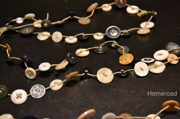 vintage button garland, crafts, repurposing upcycling, seasonal holiday d cor, Make it as long as you dare