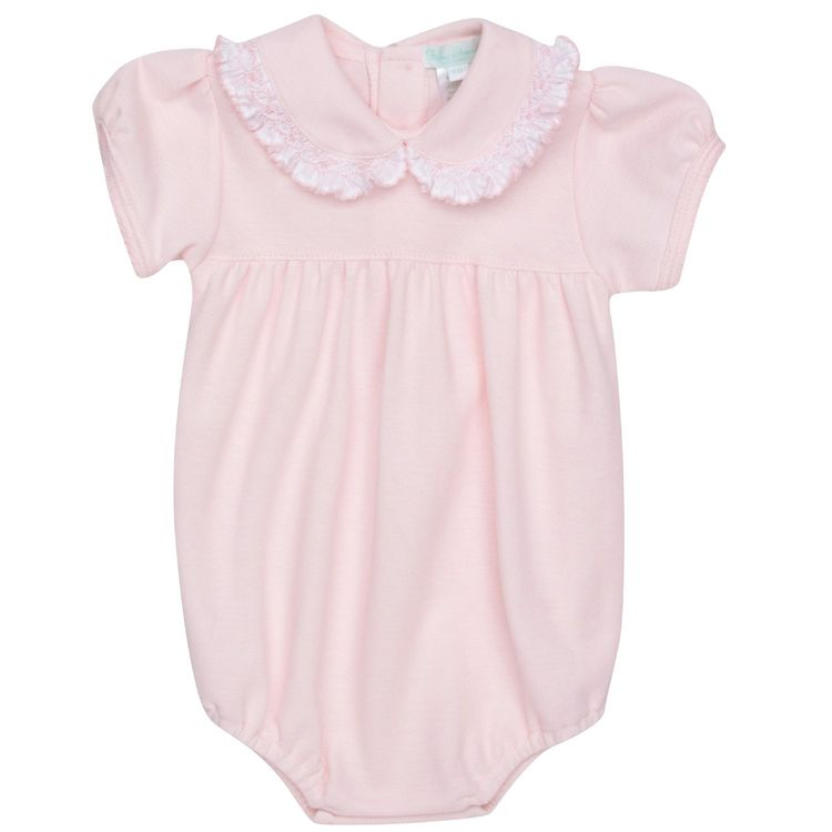 060fc8a0bb8d Baby Threads Pink Pique Romper for Baby Girls.  Babythreads