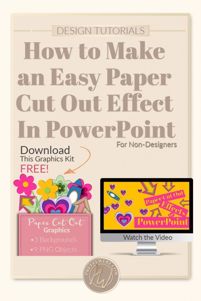 c37a4cf0f72 Learn how to make a paper cut out effect in PowerPoint! Get beautiful  graphics without