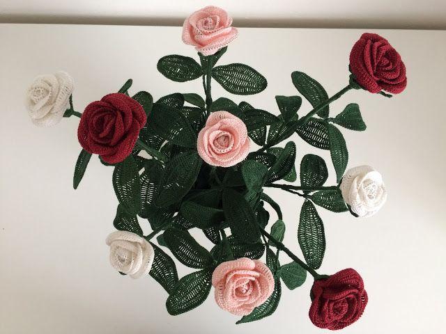 Il Blog Di Sam Spiegazione Della Rosa All Uncinetto