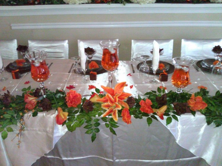 Burnt Orange Wedding Decorations Our Featured Reception Of The Month