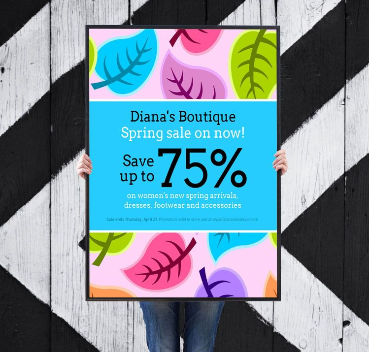 Colorful Spring Clothing Sales Flyer Idea - Business Fl