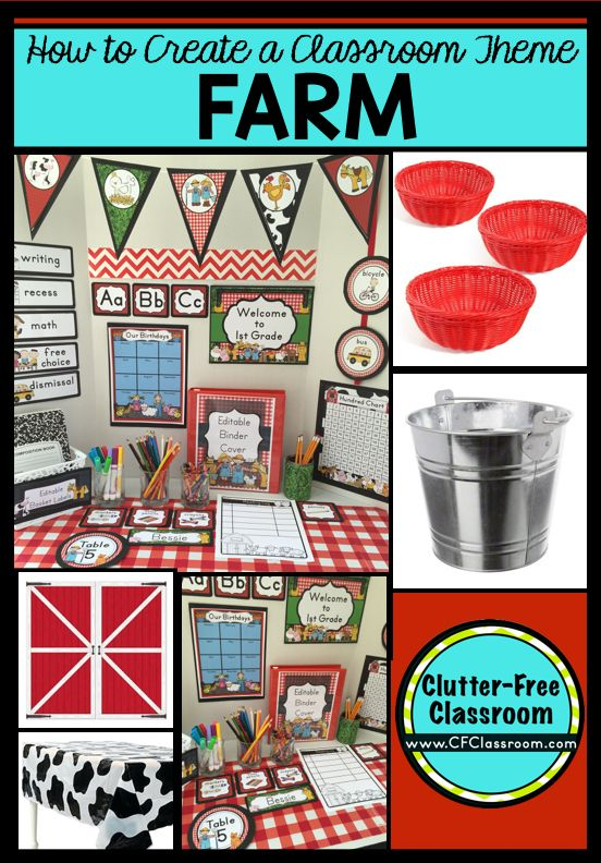 photograph relating to Free Printable Classroom Decorations called Farm Themed Clroom - Programs Printable Clroom Decora