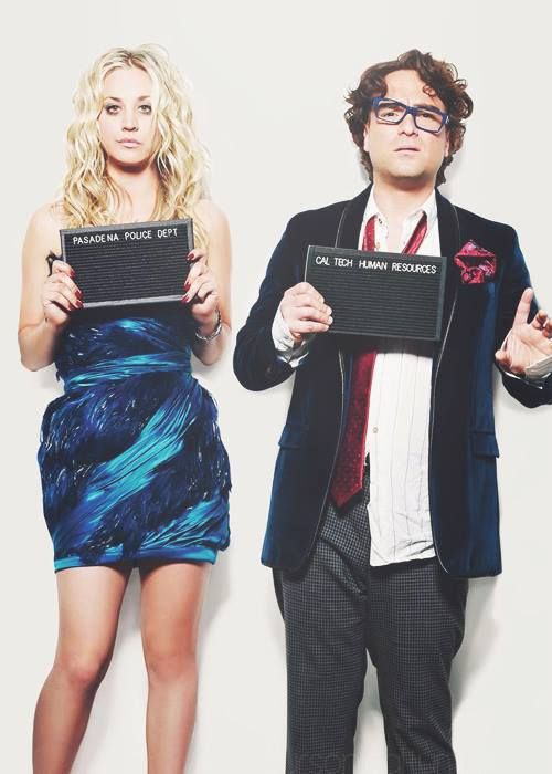 The big bang theory - Penny ( Kaley Cuoco ) and Leonard ( Johnny Galecki )