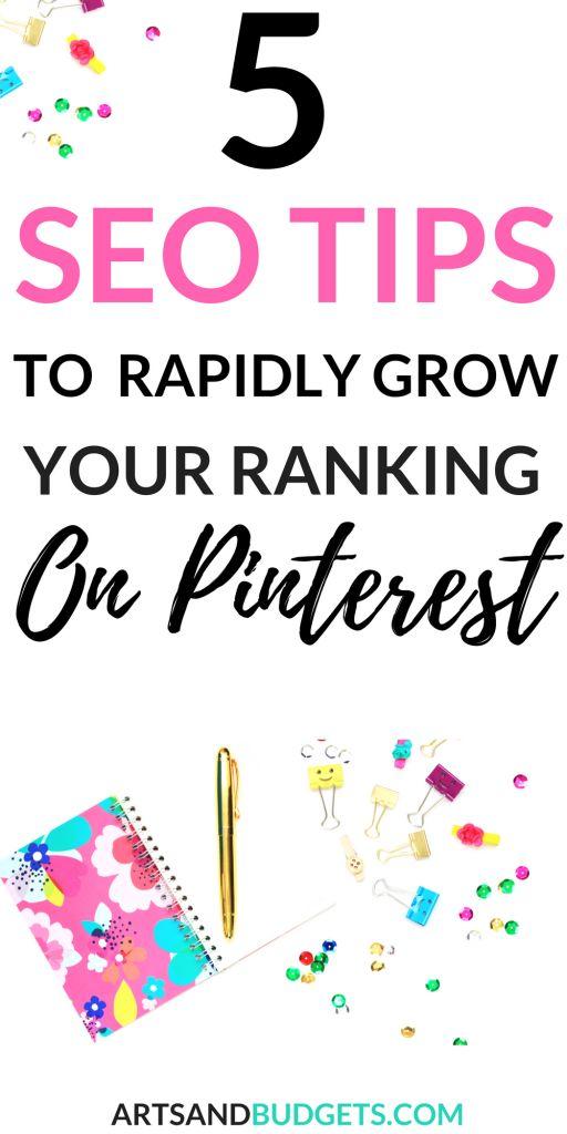 5 Pinterest SEO Dicas para crescer maciçamente seu Ranking