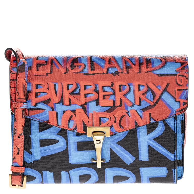 1f3c023c94e5 Details about Burberry Women s Small graffiti Print Leather