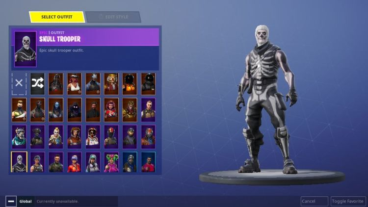 Fortnite Account Skull Trooper Nutcracker Black Knight