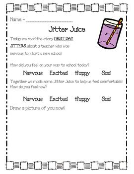 picture regarding Jitter Glitter Poem Printable named Jitter Juice Freebie Respond to