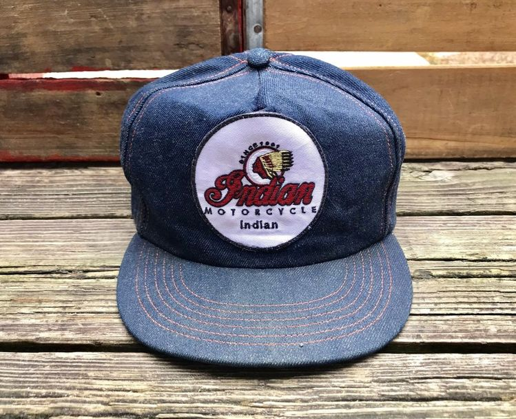 b5a1a6d4 INDIAN MOTORCYCLE Vintage 1970s Denim Snapback Trucker Hat #Unbranded # Trucker #Everyday