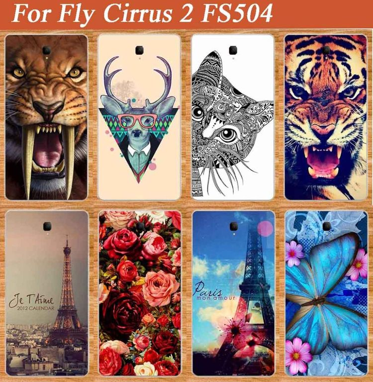 Fashion DIY Painted case For Fly Cirrus 2 FS504 High Quality Original TPU  SOFT Style cover for Fly Cirrus 2 FS504 Protector case a37c4a369541