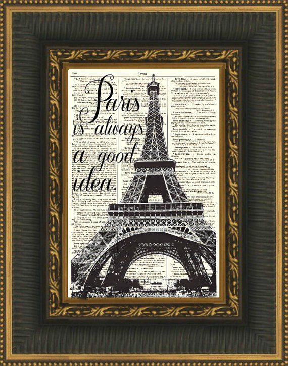 115 Year Old Page Book Art Audrey Hepburn Quote Paris Is