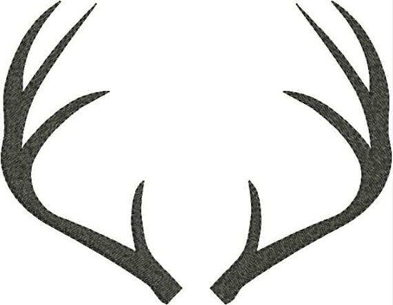 bce2c154b1ecd Deer Antlers Embroidery Machine Design 4x4 5x7 Bernina Brot