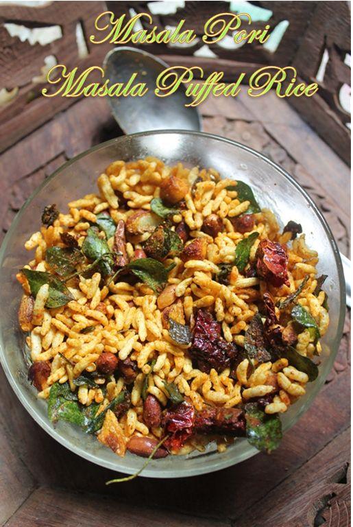 Masala Pori Recipe - Spicy Puffed Rice Recipe - Kara Pori Recipe