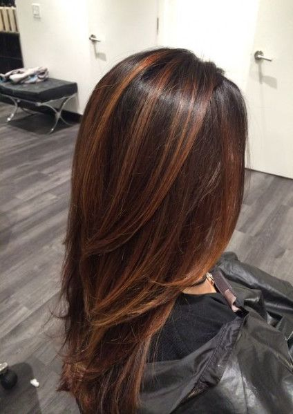 70 Ideas Hair Color Flamboyage Dark Brown
