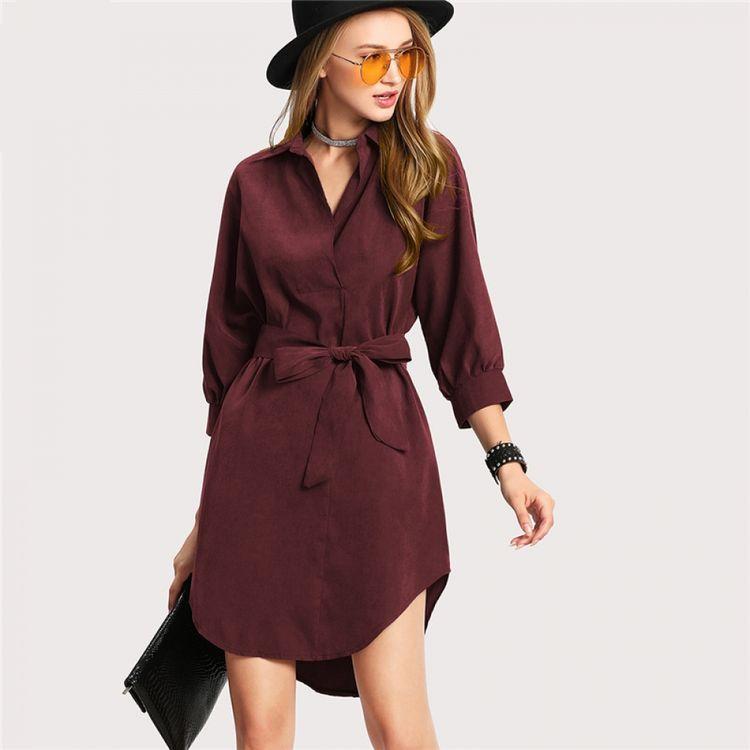 Casual Asymmetrical Short Dress