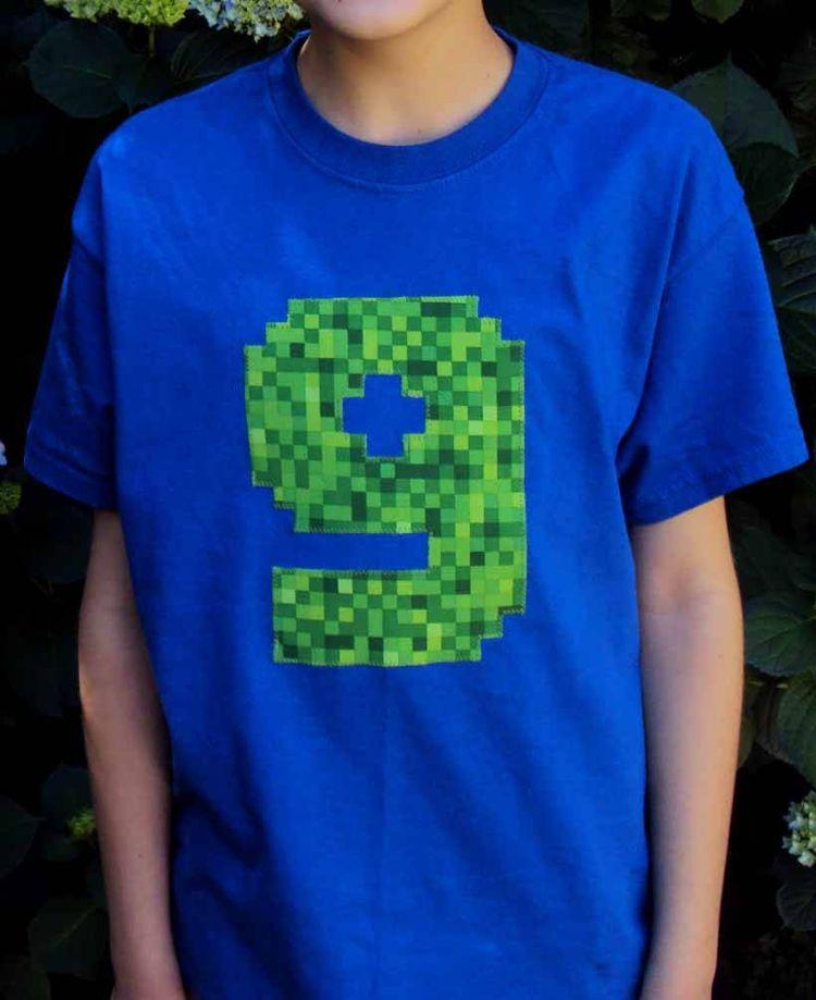 Minecraft Inspired Birthday Shirt