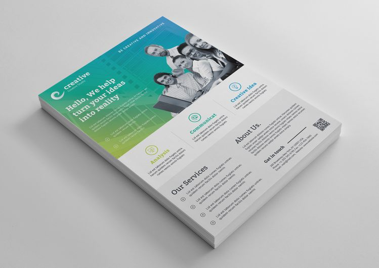 Cape Town Creative Business Corporate Flyer Template - Graphic Templates