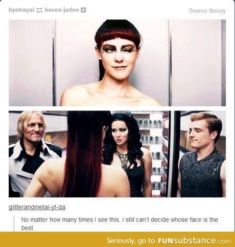 Definately Katniss' face. So much JLaw in it.