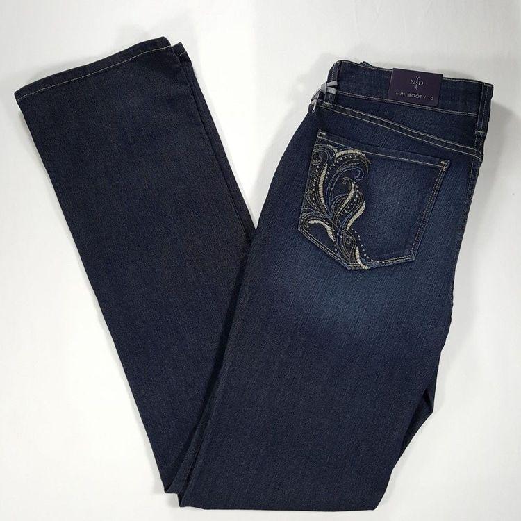 d9e48704ca8 NYDJ Billie Mini Boot Cut Jeans Sz 10 Stretch Hollywood Wa