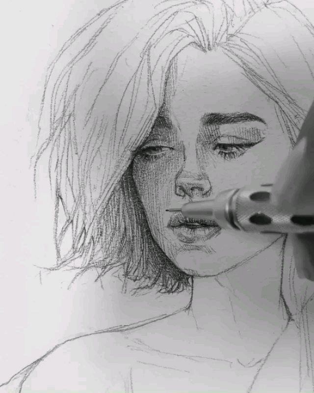 "ART | WORLD of EXPRESSION 🎨 on Instagram: ""Technique: Mechanical pencil (graphgear 1000) on paper.  Artist: @maloart _____________________ ▪ 👉Follow ▪@drawing.expression for more…"""