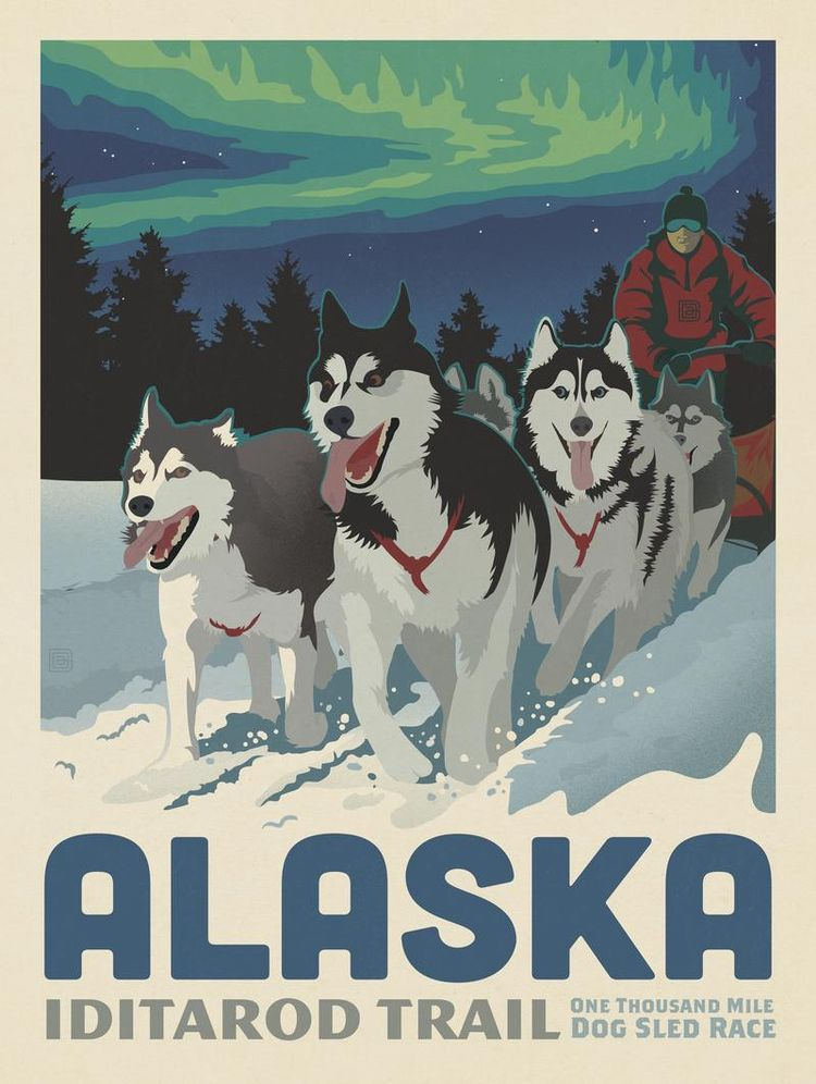 Anderson Design Group – American Travel – Alaska: Iditarod Trail Dog Sledding
