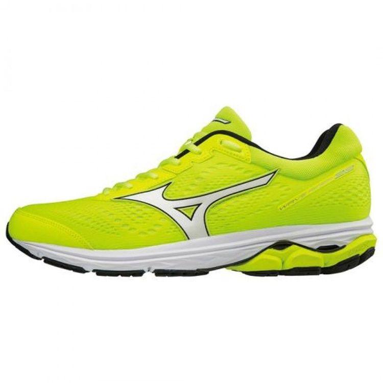 pick up 7d66b e5997 Mizuno Running Shoes WAVE RIDER 22 J1GC1831 Yellow à Silver à Black