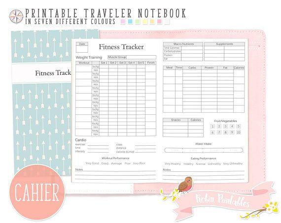 cahier fitness tracker traveler notebook refill wide larg