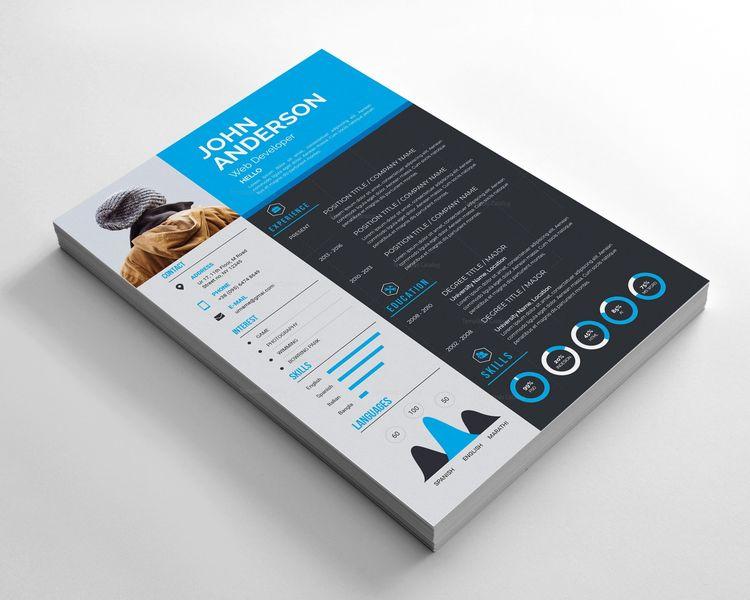 Sleek Resume Design 002797 - Template Catalog