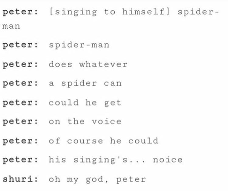 Shuri and Peter Parker