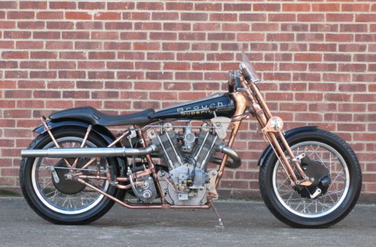 You're probably aware that in 2008, the Brough Superior name was acquired by Mark Upham – and he's in the process of selling a new SS100. But in the late 90s, an attempt was made to bring it back. Two prototypes were started, but only this example was completed.
