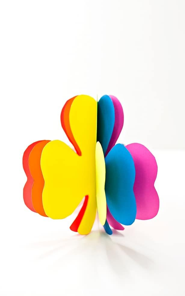 3d Rainbow Paper Shamrock Craft