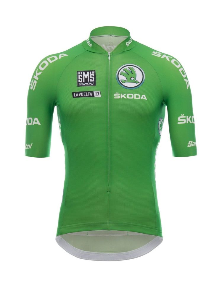 633d3341a 2017 La Vuelta Point Leaders Green Cycling Jersey  Made in Italy by Santini