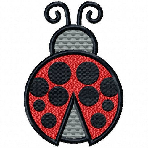 1ebf8902f5a45 Ladybug - Insect Collection #07 Stitched and Applique Mach