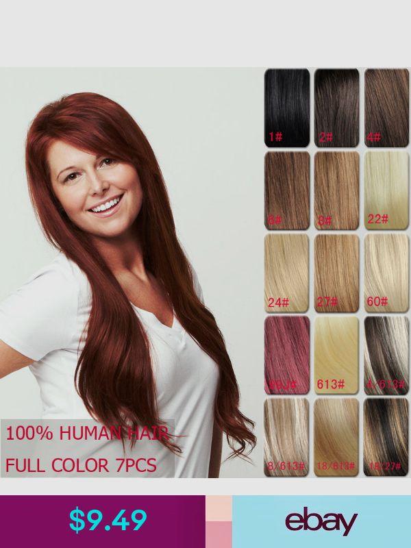 100 Full Head Human Hair Remy Clip In Hair Extensions Sil