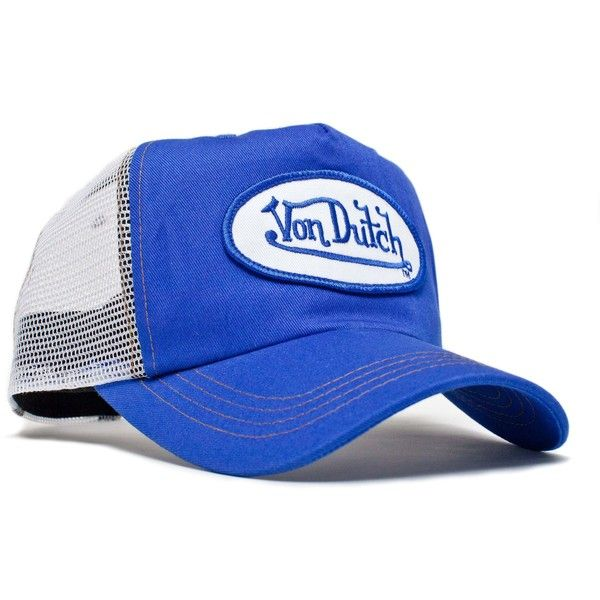 0ed2a98df0c Von Dutch White Mesh Royal Twill Hat Cap Cap Envy ❤ liked on Polyvore  featuring accessories