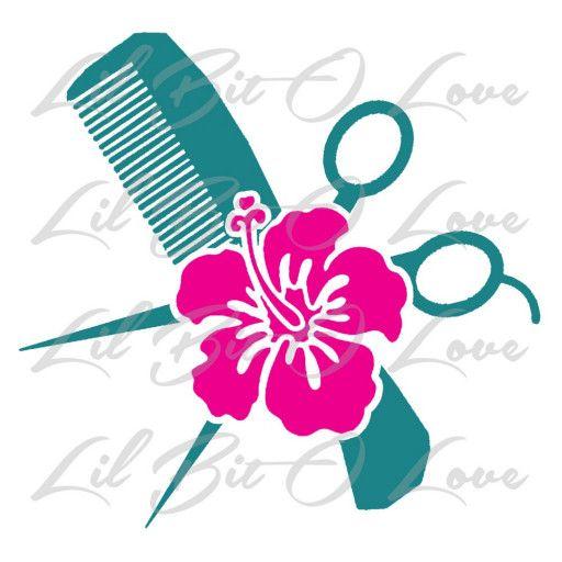 H1057 Hair Dryer Mirror Scissors Hair Stylist Salon LOVE Decal Sticker Laptop